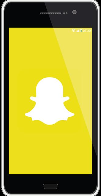 snapchat display screen