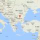 ブルガリアを指しているヨーロッパのマップ