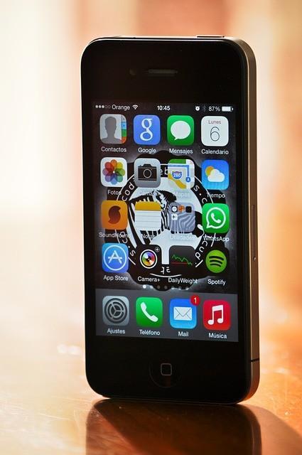 standing iPhone