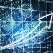 ドル貨幣の相場が上がっていることを表している矢印