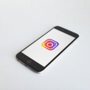 Instagram icon inside an iphone